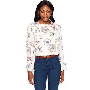 J.O.A. floral blouse office top